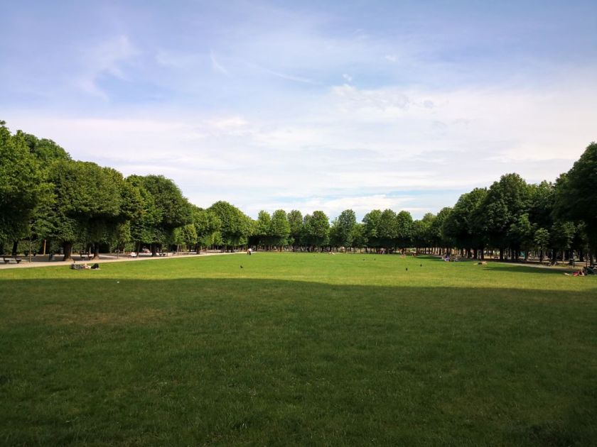 Augarten - One of the lawns in the park