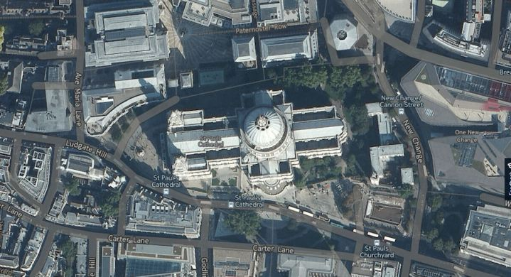 Nokia updates here com aerial imagery  HERE Maps to follow later     Aerial St Paul s