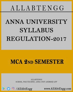MCA Course Syllabus reg-17, 2nd Semester