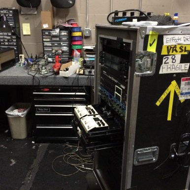 Dave's work, almost ready for Vegas-Coachella, tour. Pic taken March 2016.