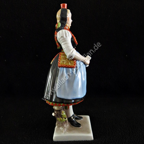 53 Hessian female peasant, painted - view from left