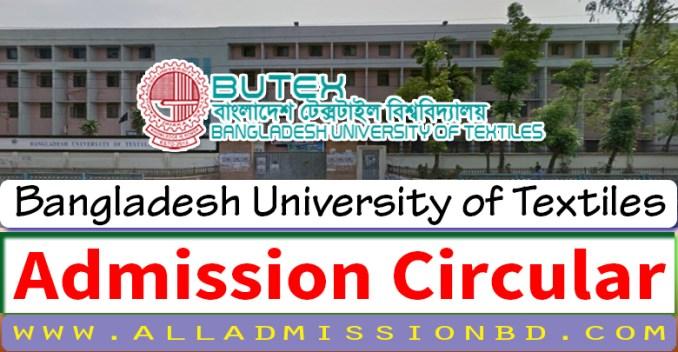 BUTEX Admission Circular