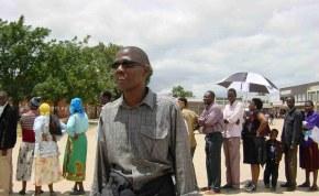 Voting in Zimbabwe.