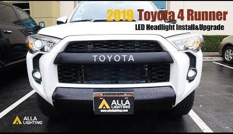 Toyota 4Runner LED Low Beam Headlights Bulbs Install Change