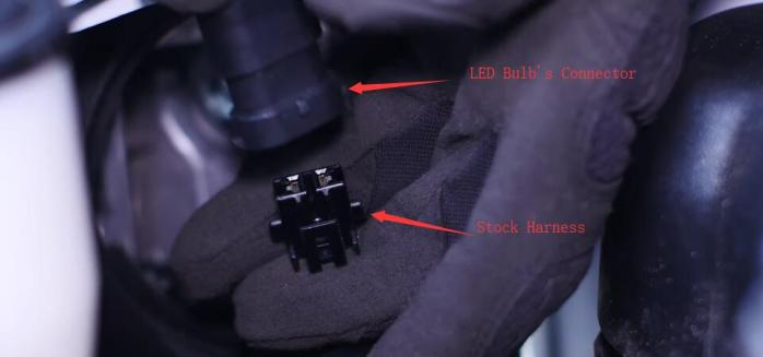 Toyota 4Runner High Beam LED Headlight Bulb H9005 Connector Install