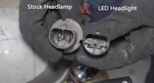Connector of 9007 Halogen Headlight VS LED Headlight Conversion Kits Bulbs 3
