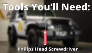 PHILLIPS HEAD SCREWDRIVER REQUIRED 3