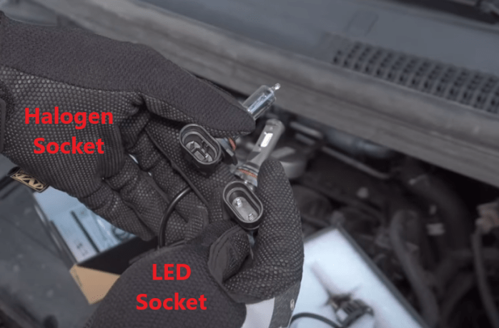 halogen and LED comparison from 2012 - 2019 Chevy Sonic