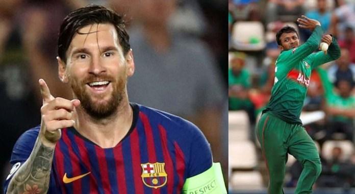 Lionel Messi's most famous fan, Shakib Al Hasan