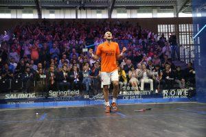 ElShorbagy celebrates his 2019 Allam British Open win