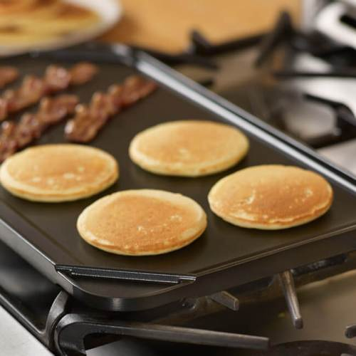 Double Burner Reversible Grill & Griddle