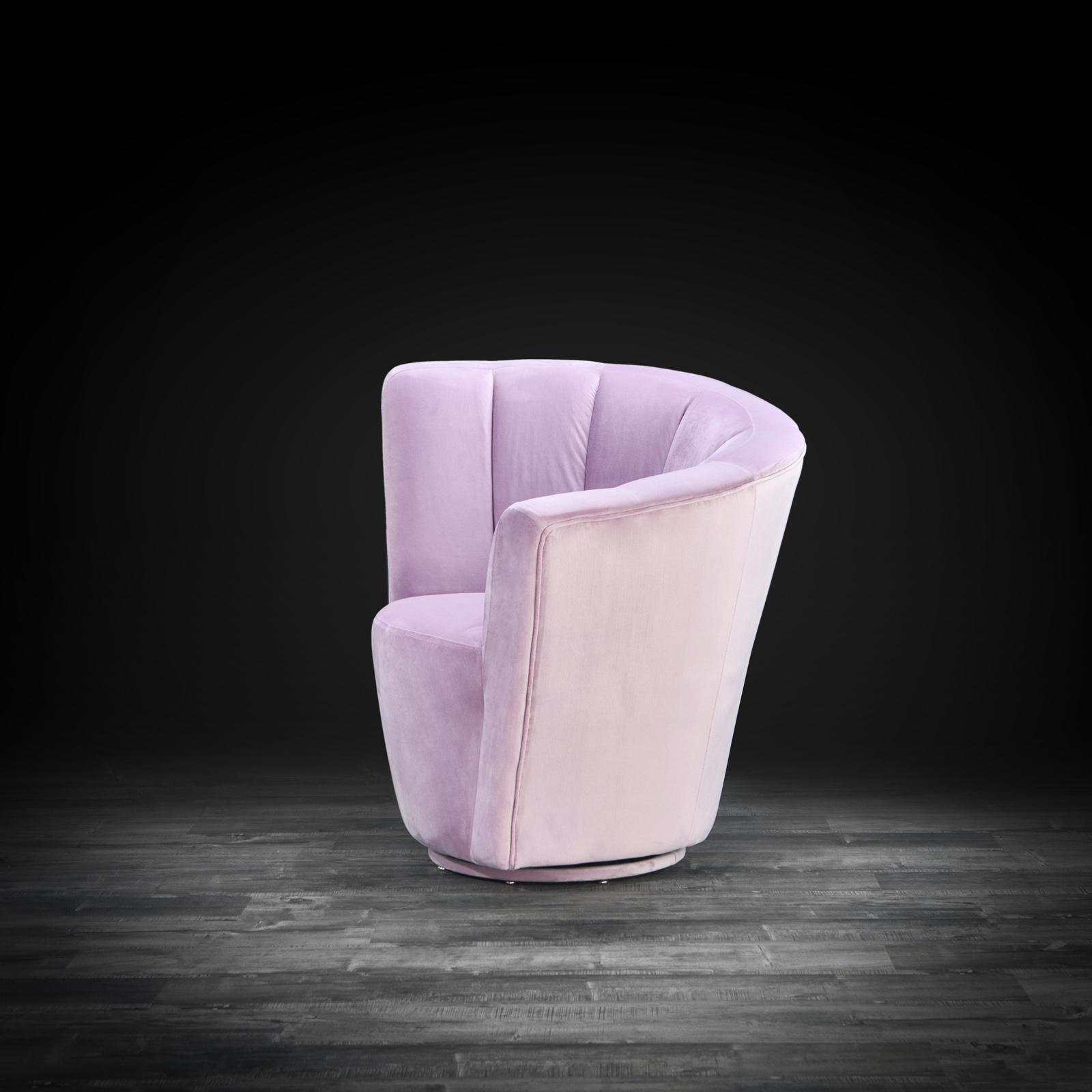 Luxury Tulip Light Purple Laf Accent Chair Allamoda Modern Furniture