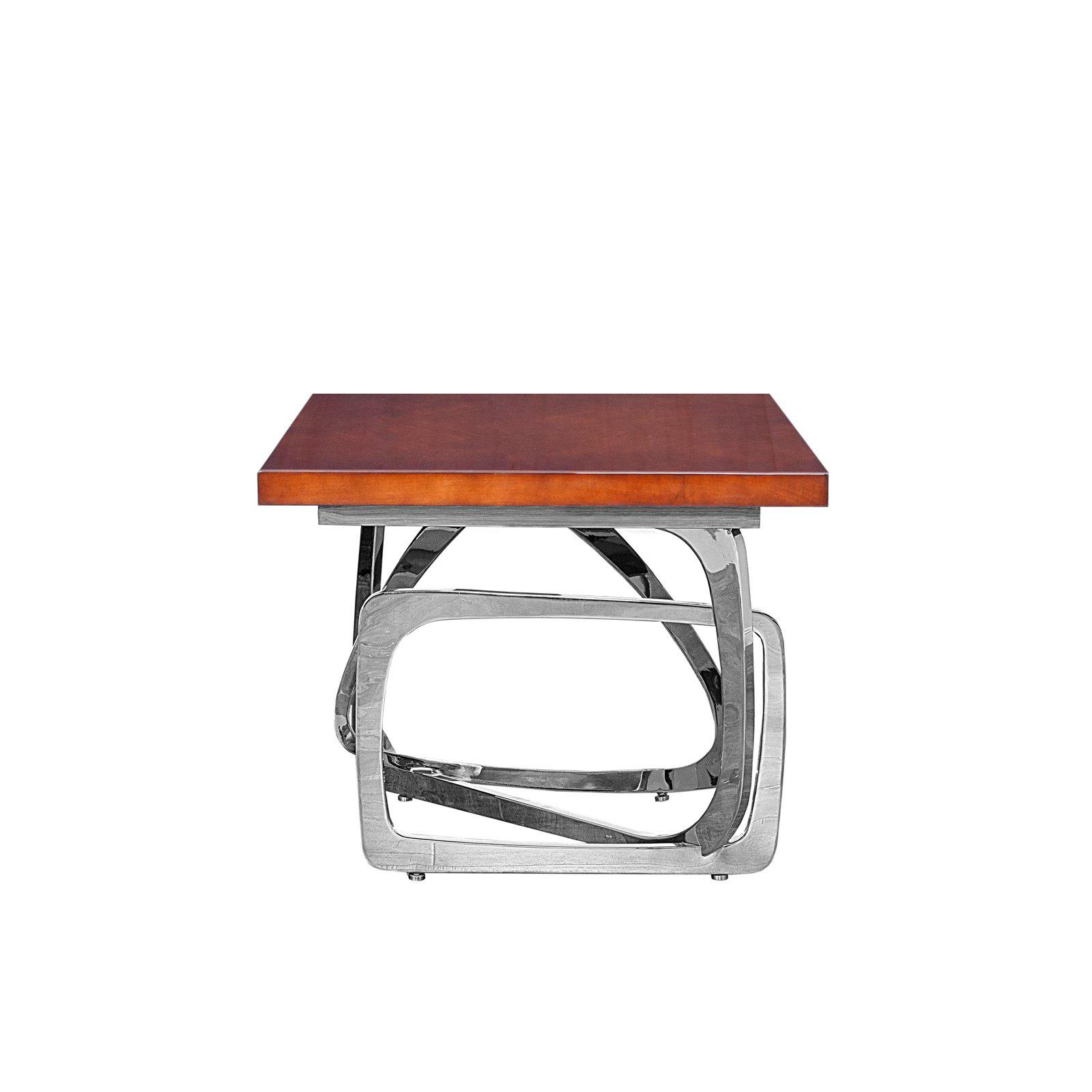 modern silver end table flow