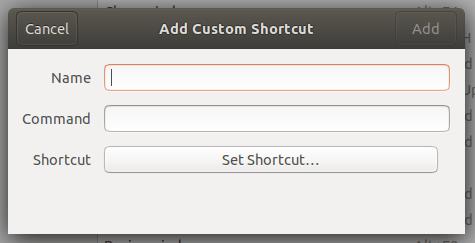 Add Custom Shortcut tool