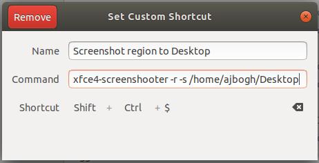 Screenshot region to Desktop