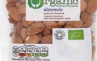 Tesco Organic Almonds- salmonella