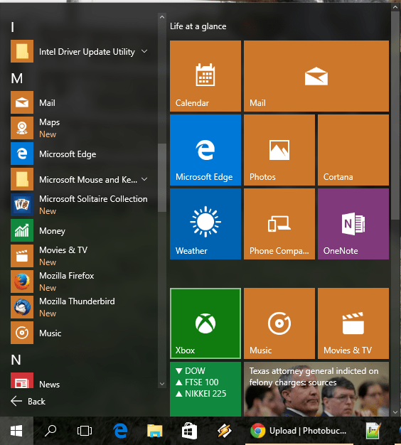 Windows 10 Start Menu: All Apps