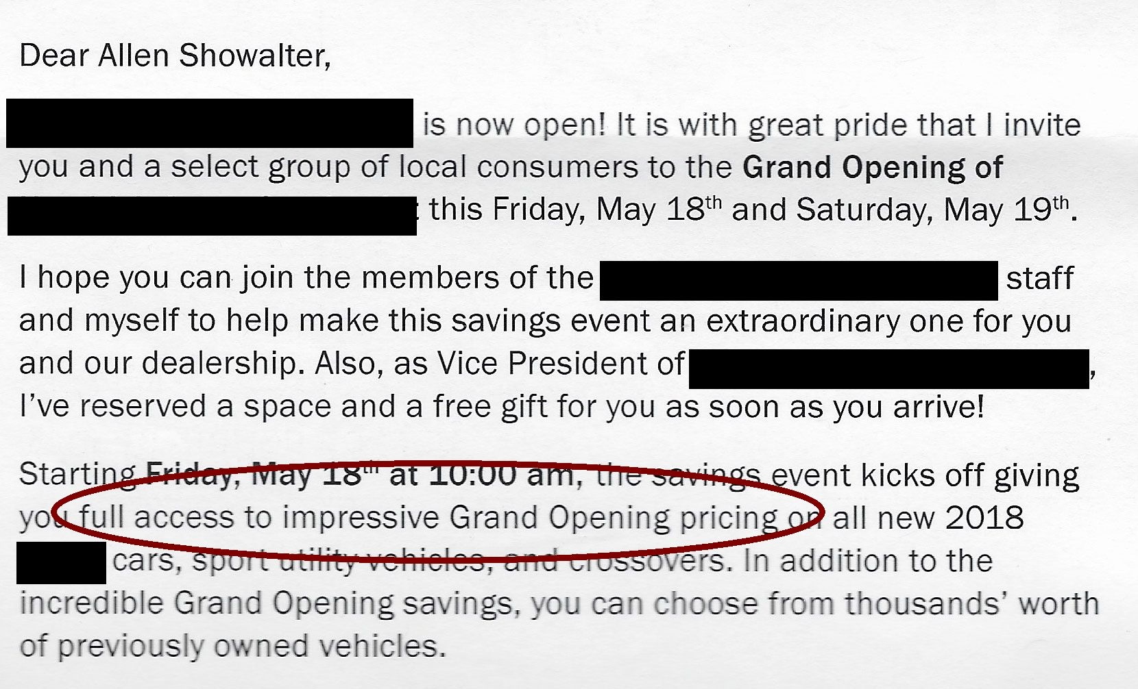 Full Access To Impressive Grand Opening Pricing Most Impressive