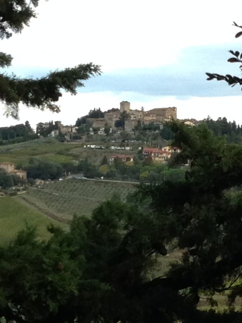 VIEW FROM VILLA LE BARONE IN TUSCANY