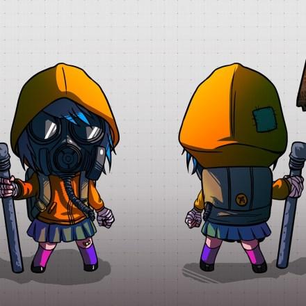 Gas Mask Girl (Character Design, 2010)