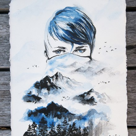 'Winter' (2017), Chinese Ink on Paper.jpg