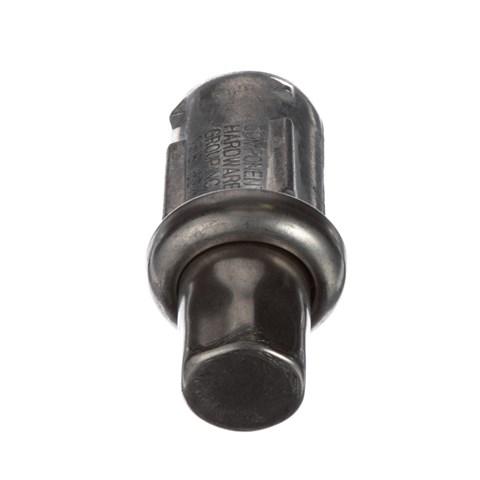 """1-5/8"""" Round Stainless Steel Clad Zinc Die Cast Adjustable Hex Foot Insert"""