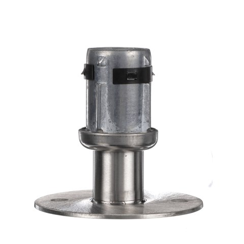 """1-5/8"""" Round Stainless Steel Clad Zinc Die Cast Adjustable Flanged Foot Insert With Mounting Holes"""