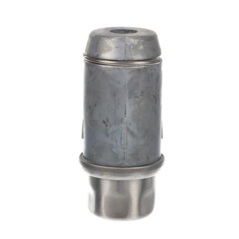 """2"""" Round Stainless Steel Clad Zinc Die Cast Adjustable Hex Foot Insert"""