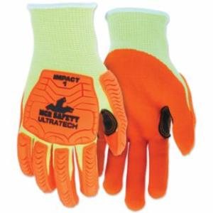 "127-UT1955XXL UT1955 UltraTechâ""¢ A5/Impact Level 1 Mechani Knit Glove, 2X-Large, Hi-Viz Lime; Orange"