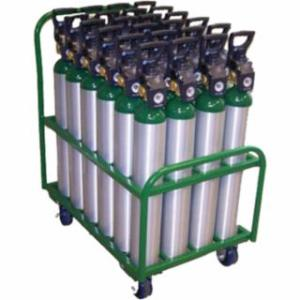 339-MDE-24 Medil Series rts, Holds 24 D or E Cylinders, Polyurethane Wheels