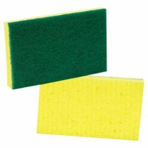 501-74 Medium-Duty Scrubbing Sponge, 3 1/2 x 6 1/4, Yellow/Green