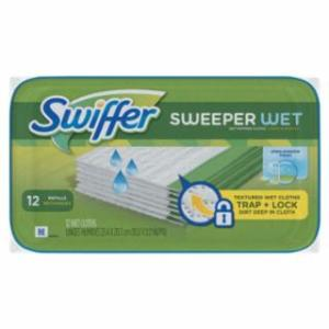 608-95531CT Swiffer Wet Refill Cloths, Open Window Fresh, Cloth, White, 8x10, 12/Tub