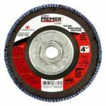 "481-66261068838 Premier Red Zirconia Alumina Type 27 Fat Boy Flap Disc,4 1/2"",40 Grit,5/8 Arbor"