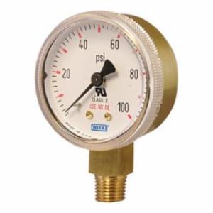759-2.5-4000 Brass Gauge, 4000 psi, 1/4 in NPT