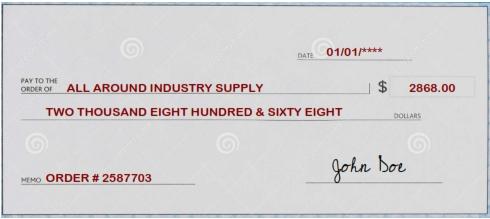 Company Check Payment Option