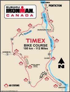 Ironman Canada Penticton bike course