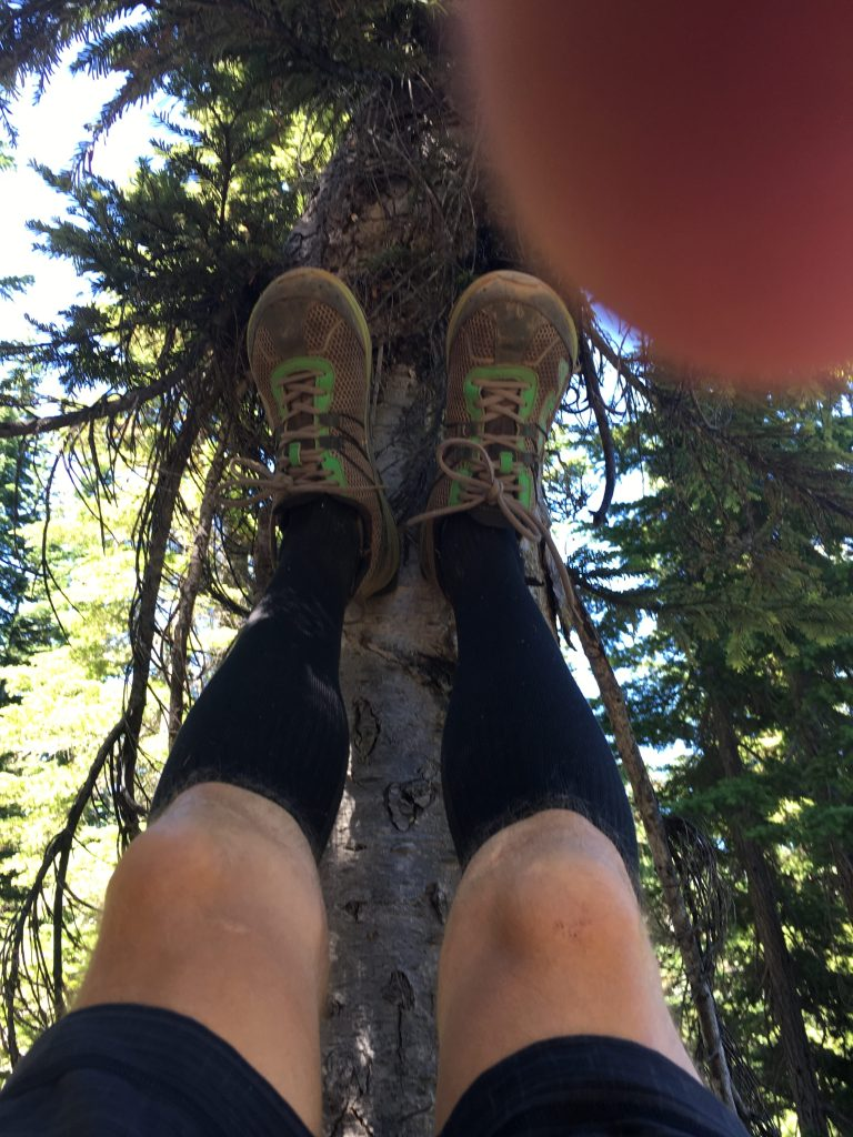 Leg Drain on Day 2 of Stevens Pass to Snoqualmie Pass Adventure