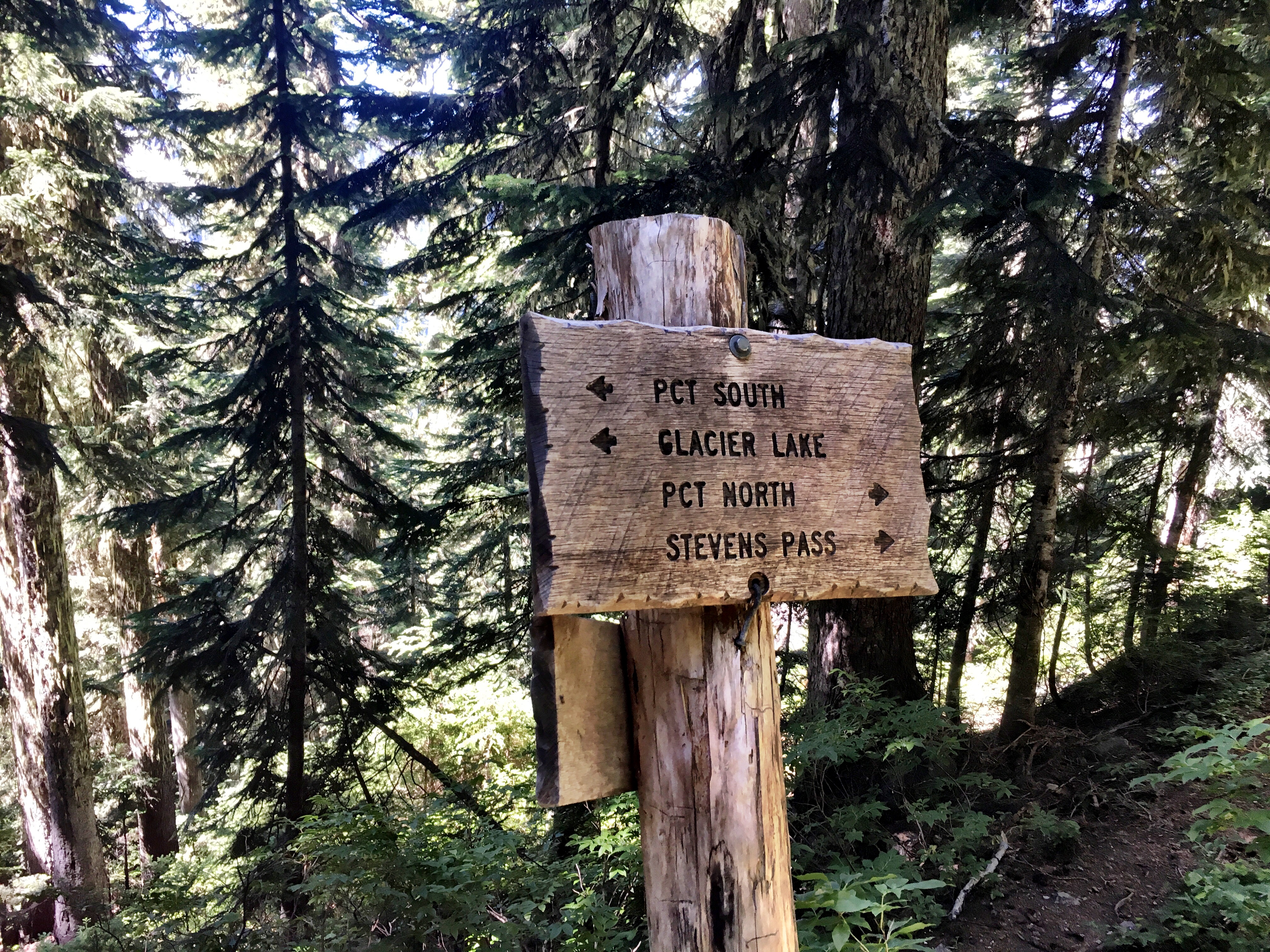 PCT Trail Sign on Stevens Pass to Snoqualmie Pass adventure