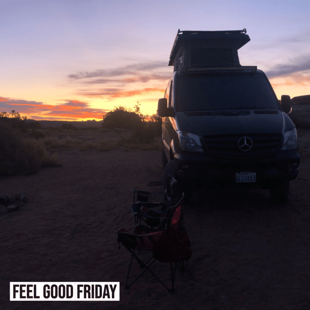 Feel Good Friday - Two for One - Beta Alanine by Joe Bauer and a Vantastic Life sunrise