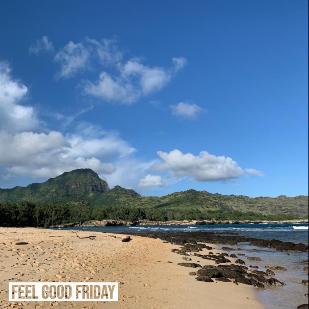 Feel Good Friday - Waimea Canyon (rainbow) - Black Friday by Joe Bauer of All Around Joe and this beach on Kauai in Hawaii