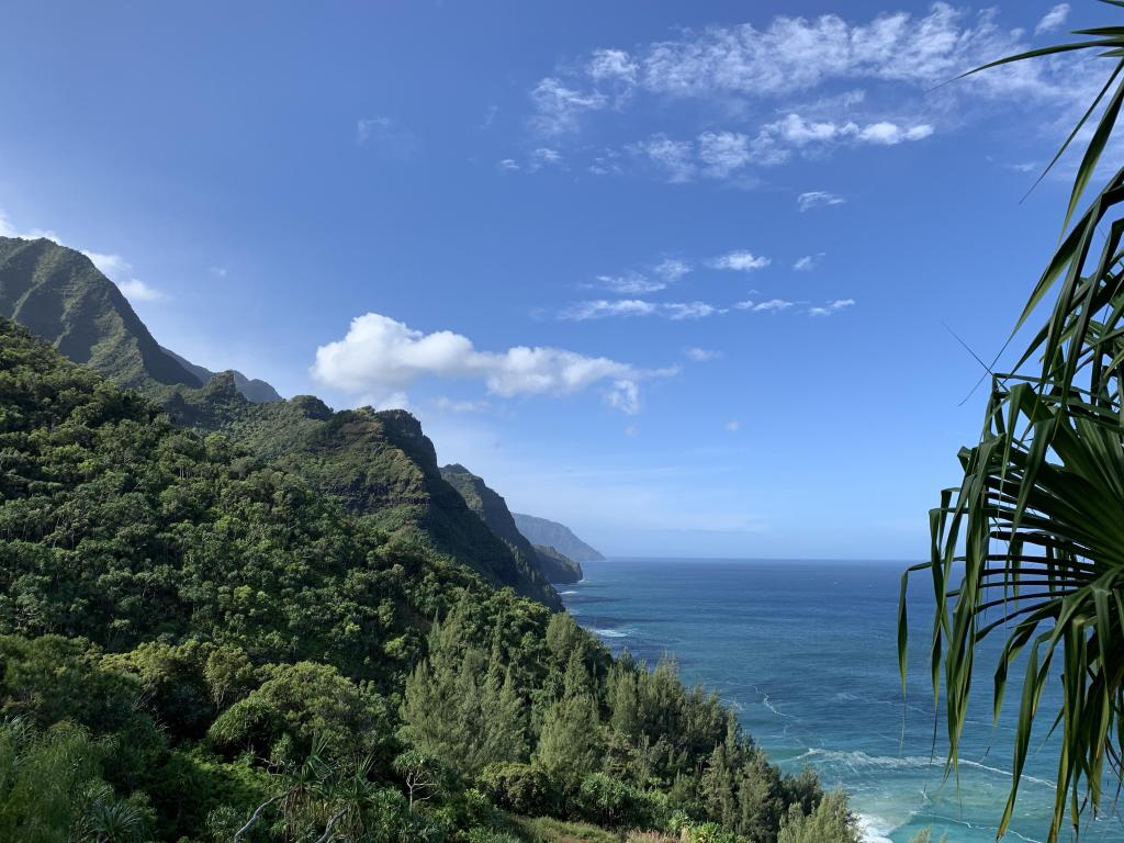 Beautiful Start of the Napali Coast views