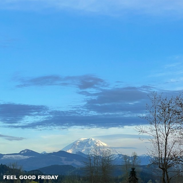 Feel Good Friday - REDEMPTION - Go Slow - Joovv Go with beautiful Mount Rainier
