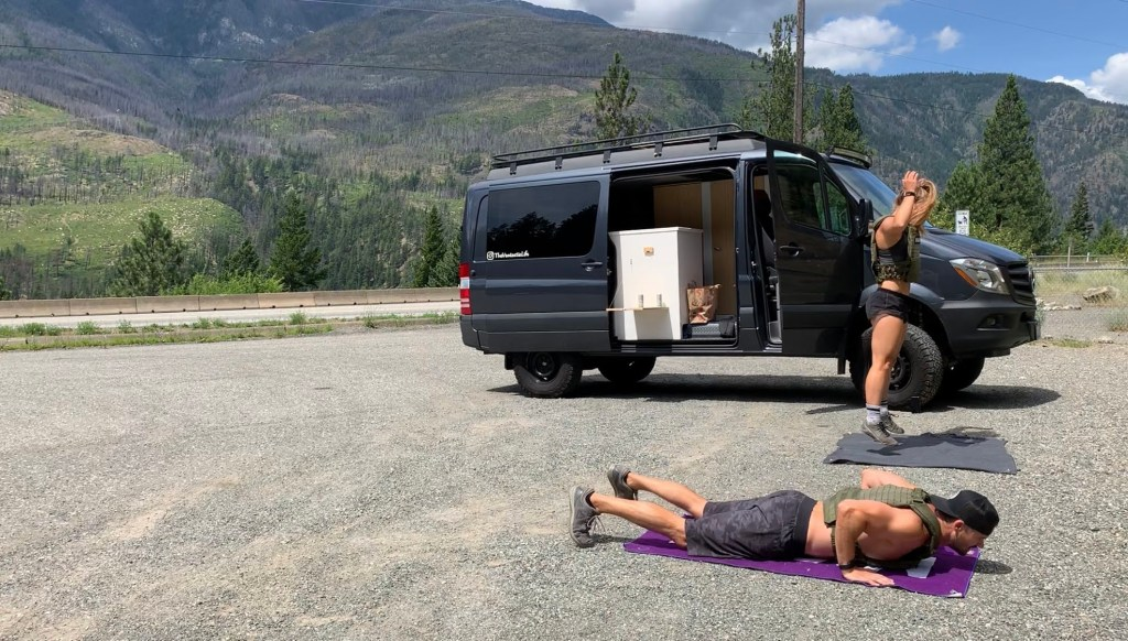 How To Stay Healthy When You Drive For A Living - Rest stop fitness