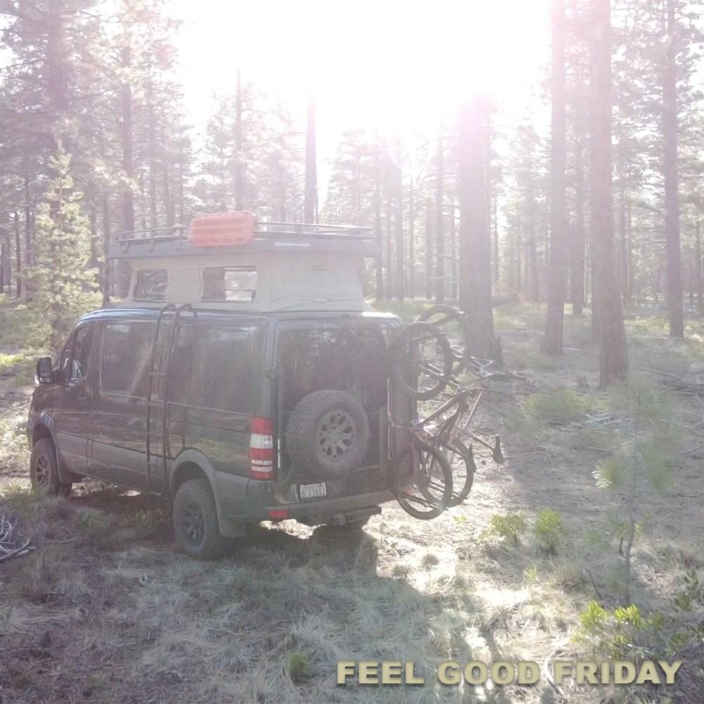 Feel Good Friday - Van Life - Granola - SLEEP by the Vantastic Life in Bend forest