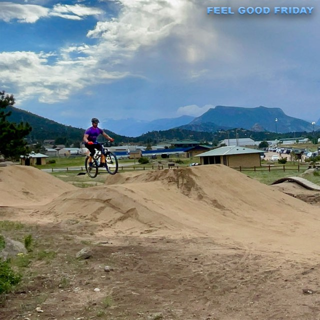 Feel Good Friday - Estes Park - Rocky Mountain NP - Fasting - CrossFit Games with Joe jumping his mountain bike