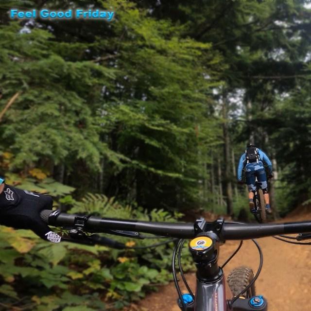 Feel Good Friday - GIVEAWAY - Homemade Granola - Fun Workout by Joe Bauer and Emily Kramer mountain biking
