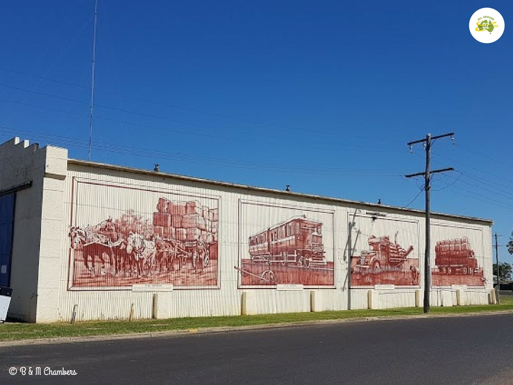 Millmerran murals depict the history of the area