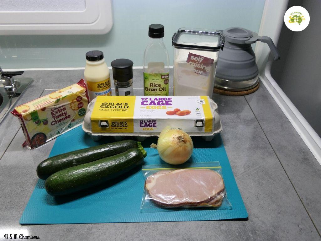 Zucchini Slice - Ingredients