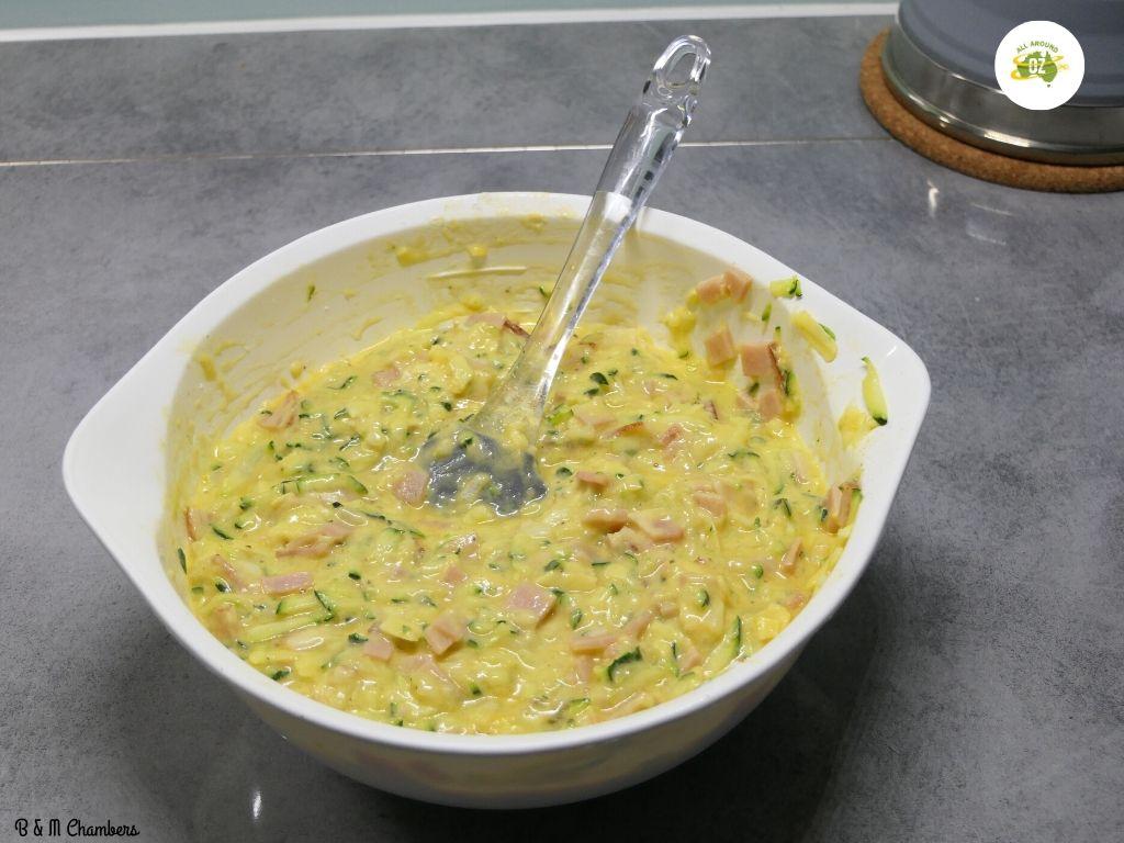 Zucchini Slice - Mixture