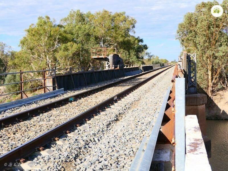 Rail Bridge over Darling River, Menindee